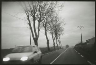 My Father driving, Hérault, France, January 1997